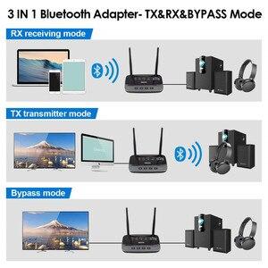 Image 2 - Adaptador de Audio inalámbrico con Bluetooth 5,0, receptor transmisor, RCA, NFC, aptX, HD, apt x, baja latencia, 262ft, largo alcance, para TV, PC, música de coche