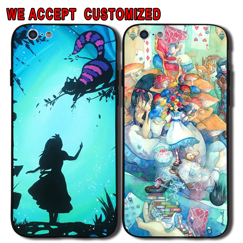 Popular Alice in Wonderland Phone Cover Shell Case for iPhone 5 5S SE 6 6S 7 8 Plus X Samsung Galaxy Note 8 S7 Edge S8 S9 Plus