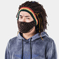 Funny Men's Winter Warm Cap Riding Ski Mask Beanie Handmade Knitted Hat Present