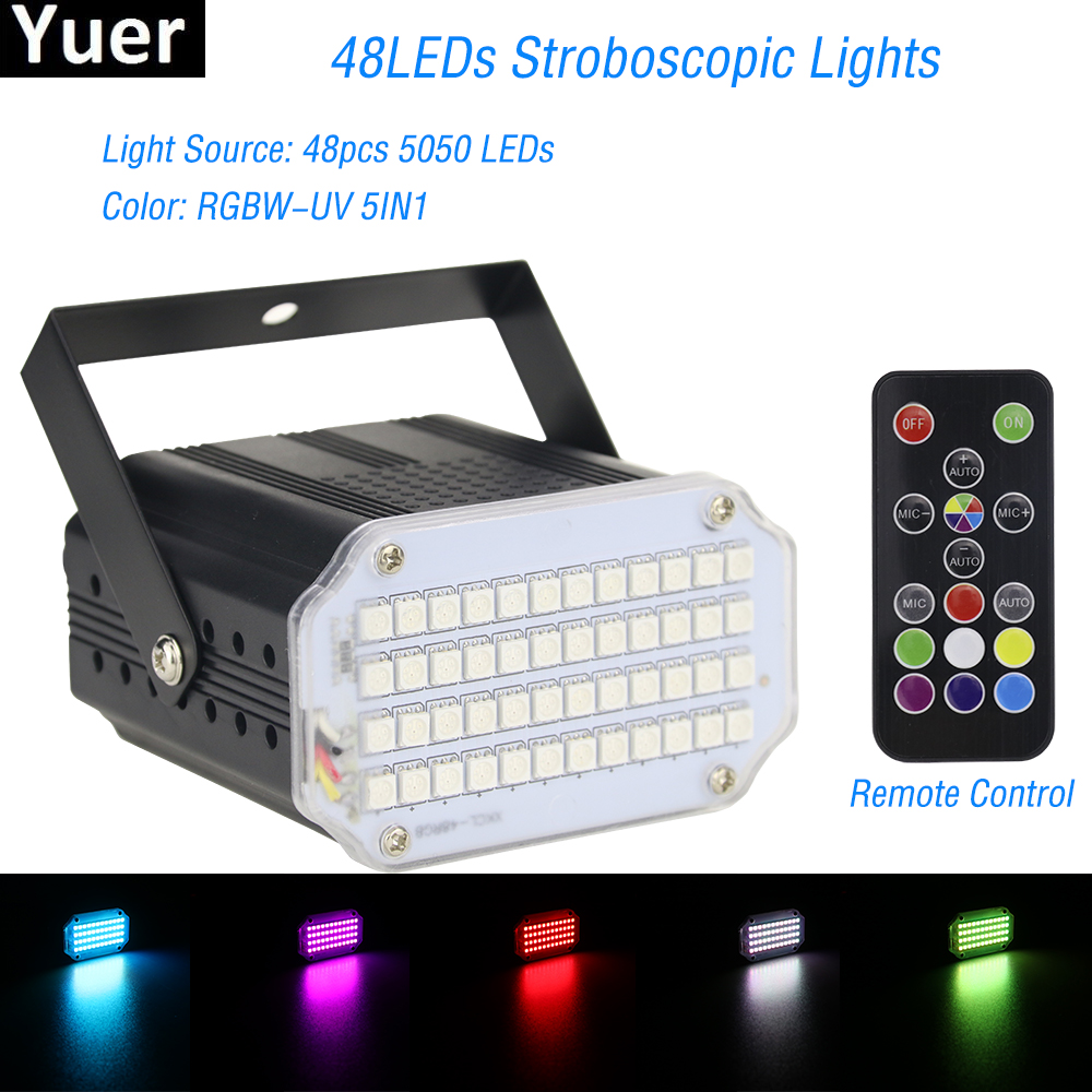 2019 High Qualtiy 42LEDs SMD 5050 Led Strobe Light Rotating Voice Activated LED Stage Lights Party Festa Disco Stroboscope Bulb