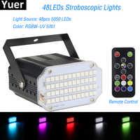 2019 High Qualtiy 42LEDs SMD 5050 Led Strobe Light Rotating Voice Activated LED Stage Lights Party Festa Disco Stroboscope Bulb