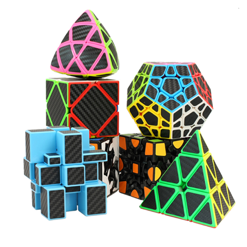 Strange-Sharp Magic Speed Cube Megaminx Skew Cube Educational Learning Toy For Children Carbon Fiber Sticker Magico Cub enlightenment educational cube children toy