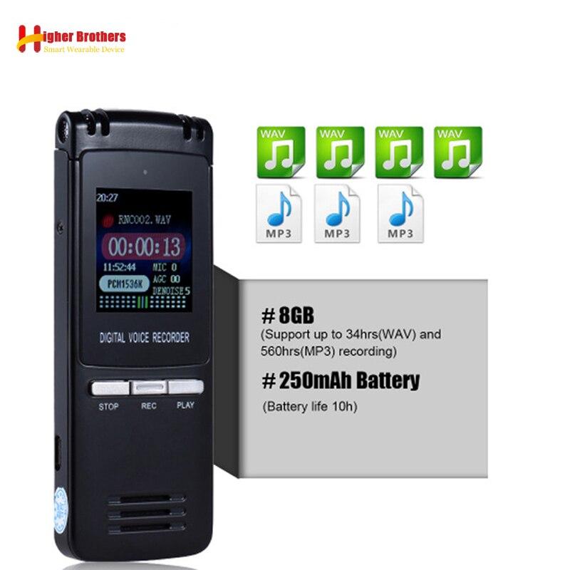 8 GB Lossles Usb Audio enregistreur vocal longue Distance enregistreurs vocaux enregistrement Audio Dictaphone AGC fonction REC lecteur sans perte