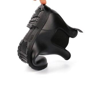 Image 2 - אישה גשם מגפי 2019 אביב סתיו עמיד למים קרסול אתחול לנשים נעליים נמוך העקב גשם מגפי החלקה גבירותיי נעליים בתוספת גודל 43