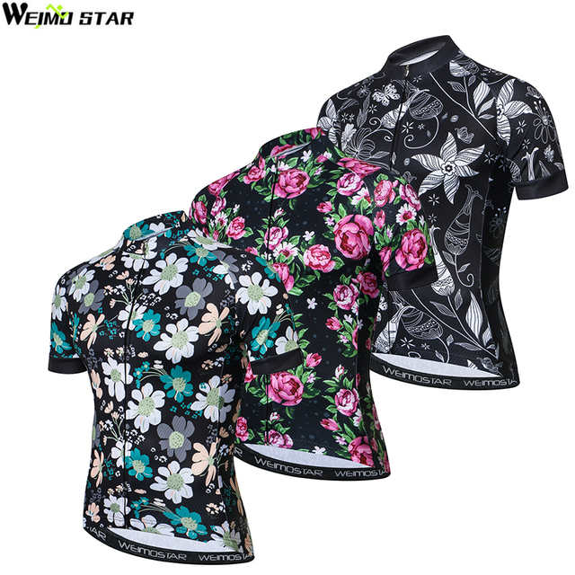 7def2af6e Weimostar Men Cycling Jersey 2018 Pro Team Bike Jerseys roupa ciclismo  Maillot Ciclismo Breathable Flowers Short Sleeve Tops