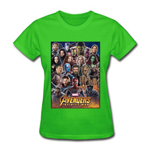 Avengers Infinity War All Gather Women Tshirt Together To Fight Printed Power Heros Spiderman T Shirt 100% Cotton Comfortable