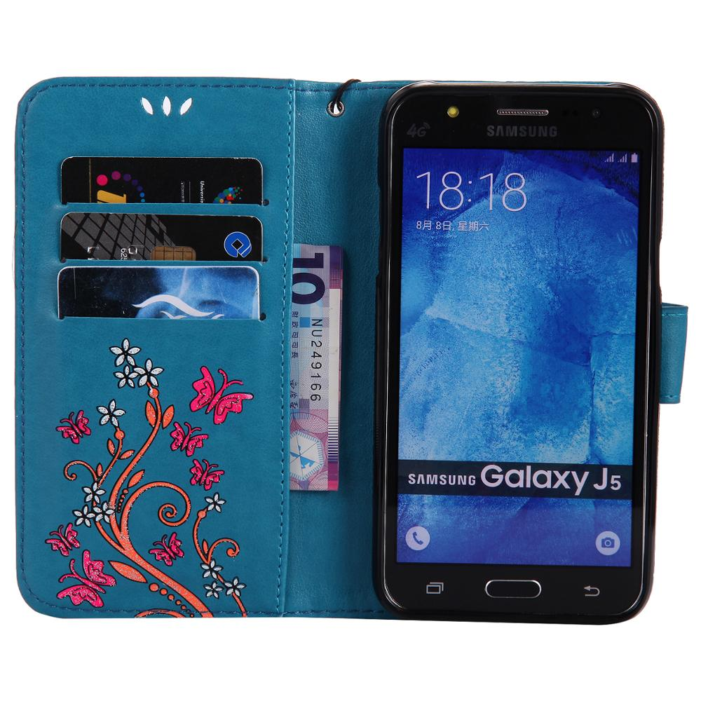 Flip Case For Samsung Galaxy J5 2015 J500f J500h J500fn J500y J500 Ds Sm Leather Cover Coque Fundas Bags In Wallet Cases From