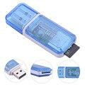 USB 2.0 Синий Кард-Ридер Для SD SDHC TF Карты Памяти Многофункциональный Адаптер Для ПК Computer Дропшиппинг