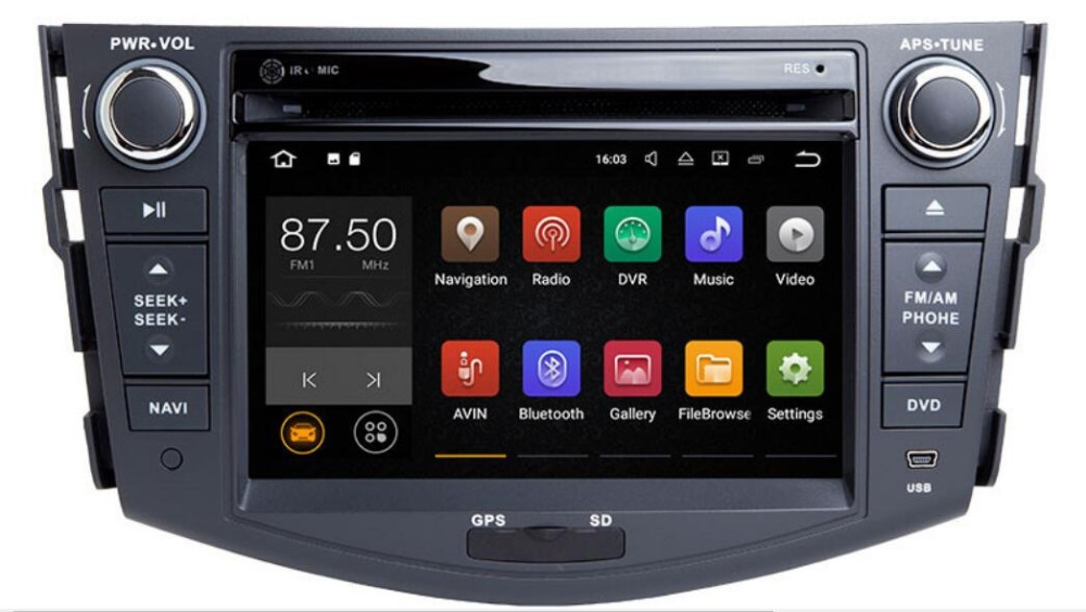 Quad Core 1024*600 HD écran 2 Din Android 8.1 voiture DVD pour Toyota Rav 4 RAV4 Audio vidéo stéréo GPS Navigation Radio RDS 4G Wifi