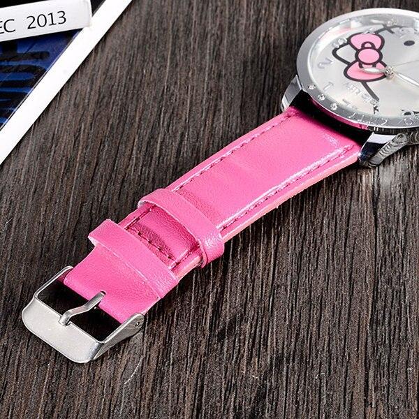 Hello Kitty Watch Women Kids Cute Cartoon Watch Baby Leather Strap Children Watches Clock Gift saat montre enfant relogio reloj