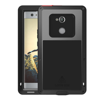 Metal Armor For Sony Xperia XA2 Case 5.2 inch Shockproof Heavy Duty Phone Case sFor Sony XA2 Case XA 2 coque With Glass Cover
