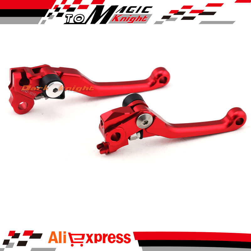 For HONDA CRF 250R/450R CRF250R CRF450R 2007-2016 Motorcycle Dirt Bike CNC Pivot Brake Clutch Levers BK cnc pivot brake clutch levers for honda crf250r crf450r 07 15 crf motocross enduro supermoto dirt bike racing offroad motorcycle