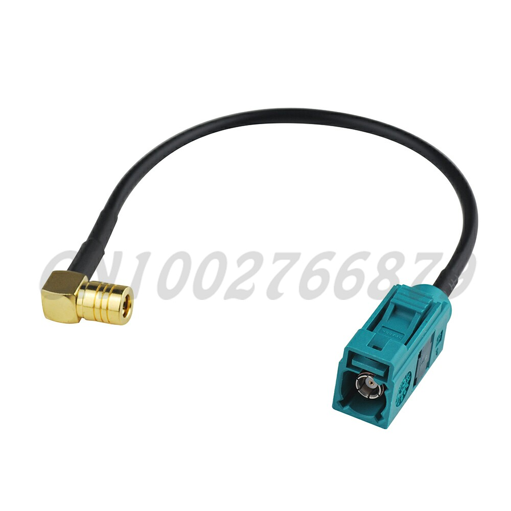 Fakra Z Female Jack To SMB Male Plug RF 15CM RG174 Cable For Neutral Coding USA