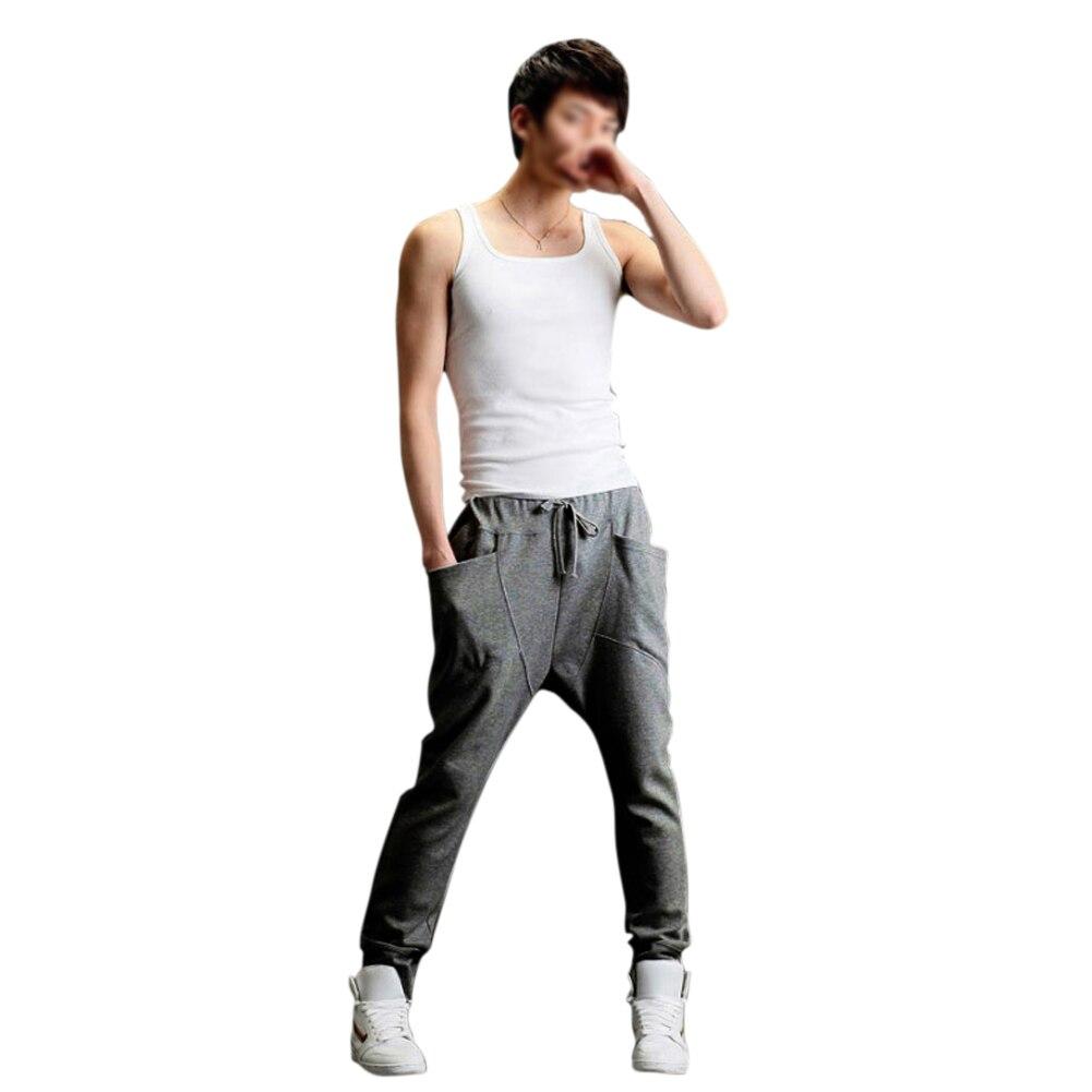 Mens Womens Casual Harem Baggy Tomboys Hip Hop Dance Sweat Pants