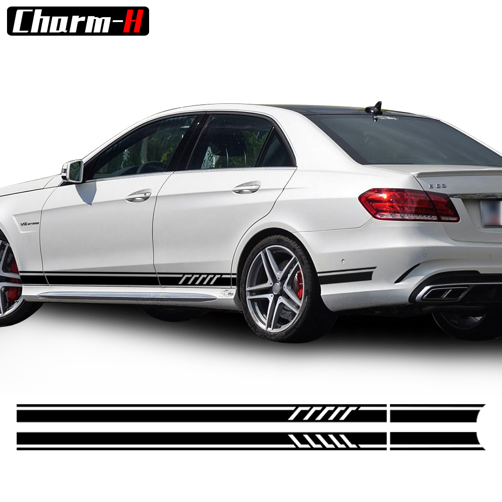 Pair of Edition 1 Style Side Stripes Decal Sticker for Mercedes Benz W212 E Class E200 E250 E300 E350 E500 E63 AMG Sticker 19pcs led bulb interior light kit for mercedes for mercedes benz a class w176 a160 a180 a200 a220 a260 a250 a45 amg 2013