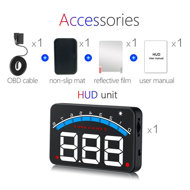 GEYIREN New M6 HUD Head Up Display Car-styling Hud Display Overspeed Warning Windshield Projector Alarm System Universal Auto M6