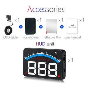 Image 5 - Geyiren novo m6 hud cabeça up display de carro estilo hud display excesso de velocidade aviso brisa projetor sistema de alarme universal auto m6