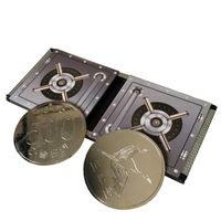 טריק היעלמות מטבע מטבע קופסא קסמים טריקים מדהים קרוב עד אבזרים AccessoriesGimmick אשליה, גימיק