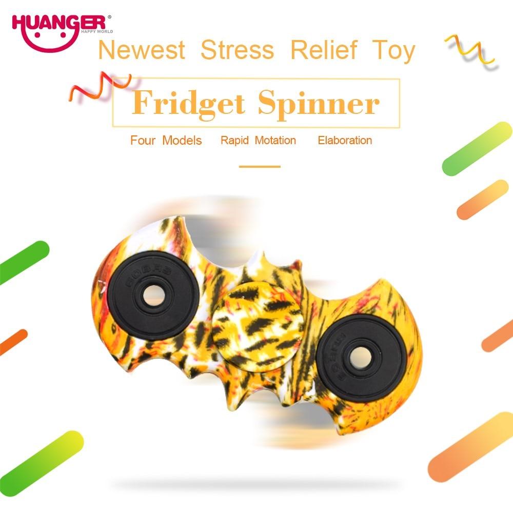 Huanger Finger Top Plastic Hand Spinner Adult Fidget Spinner Anxiety Stress Relief Toys Novel Colourful Gift #1237-4