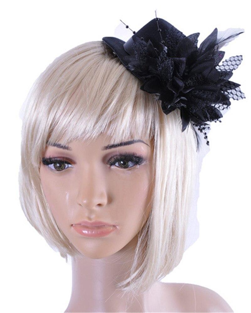 unique Women Party Head Hair Clip Barrette Hat Flower ...