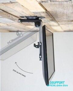 Image 3 - Katlanabilir araba tavan 14 37 inç ekran LED LCD monitör tutucu TV askısı askısı duvara monte raf dolabı montaj TV tutucu
