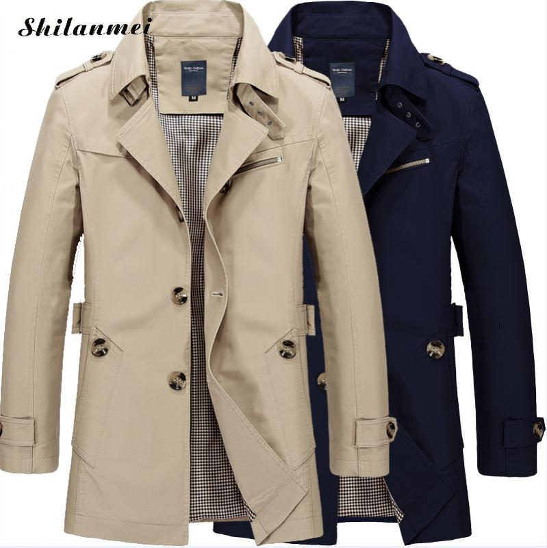 Plus Size M-5XL Casual Long Section Winter Jacket Men   Trench   Coat Overcoat 2019 Winter Spring Thicken Warm Overcoat 5XL