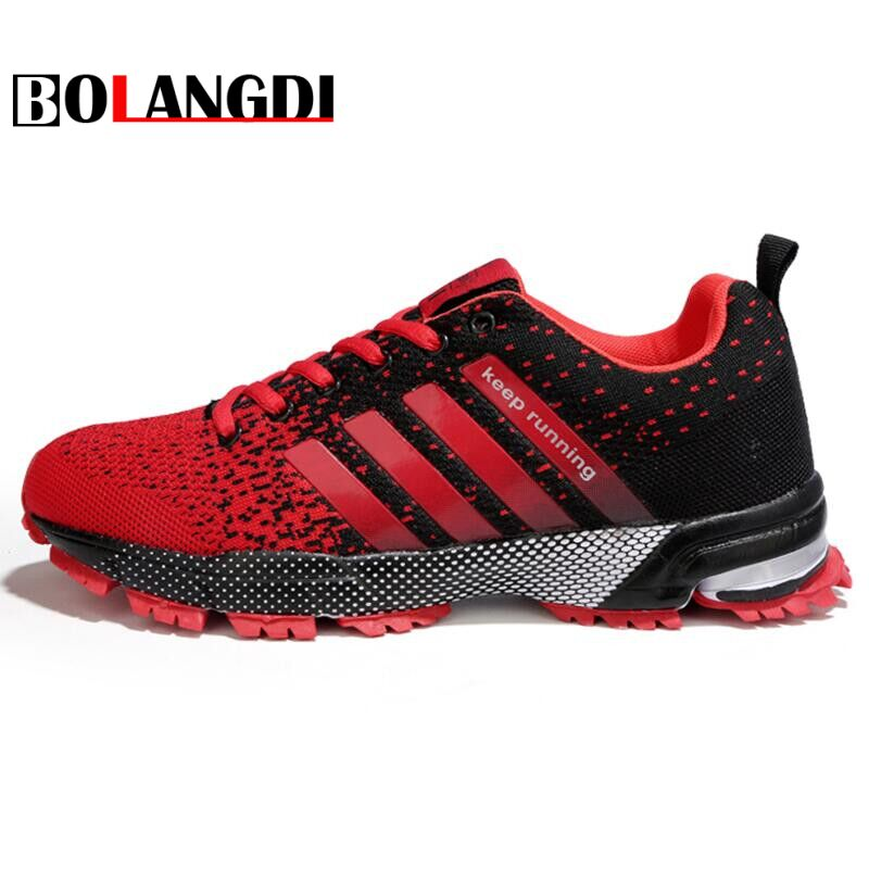 Bolangdi 2018 Men Running Shoes Outdoor Walking Jogging Shoes Women Air Mesh Eva Athletic Sapatos Breathable Sneakers Size 35-48