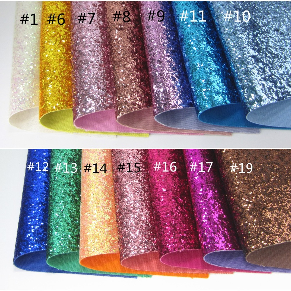 30cm X 134cm Chunky Hexagonal Glitter Fabric Leather Synthetic Faux PU Leatherette Leather Fabric For Shoes Bows Craft  AY027
