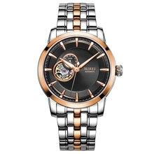 BUREI Hombres Reloj Analógico Militar Deporte Relojes Vestido Para Hombre de Acero Reloj Mecánico Automático 24 horas Dial Moda Relojes montre