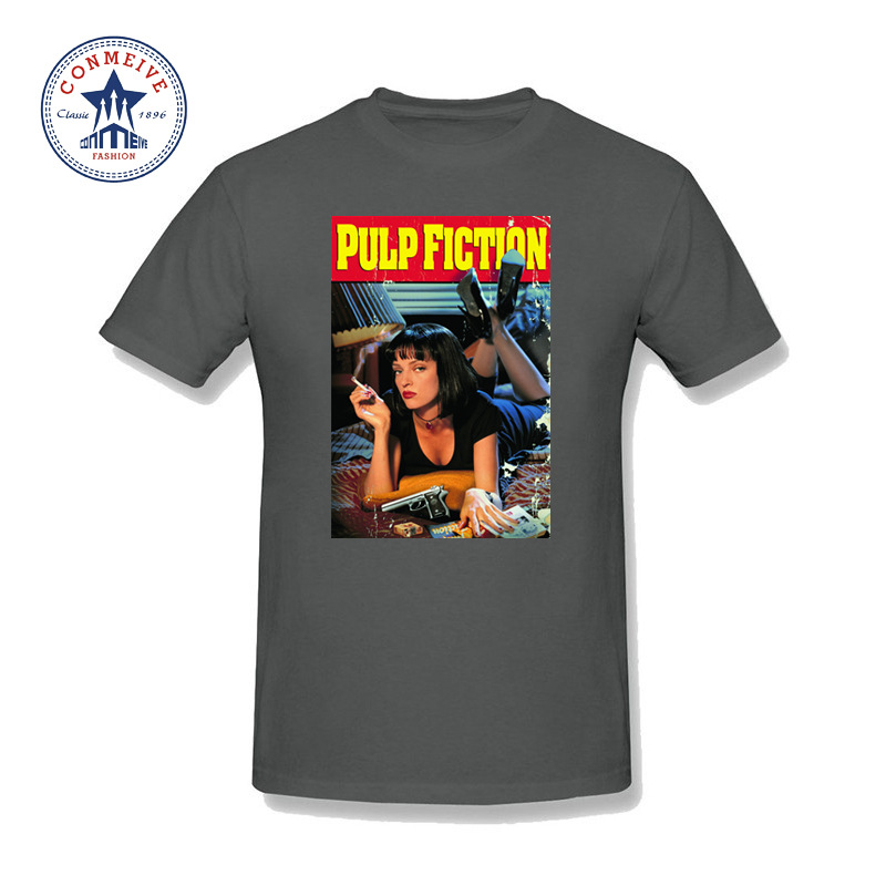 2017 New Fashion Funny Quentin movie Pulp Fiction Cotton T Shirt for men