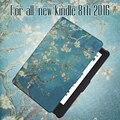 Для All-New Kindle 8-го поколения 2016 Релиз Кожа PU Case с авто wake/функция сна + экран протектор + стилус