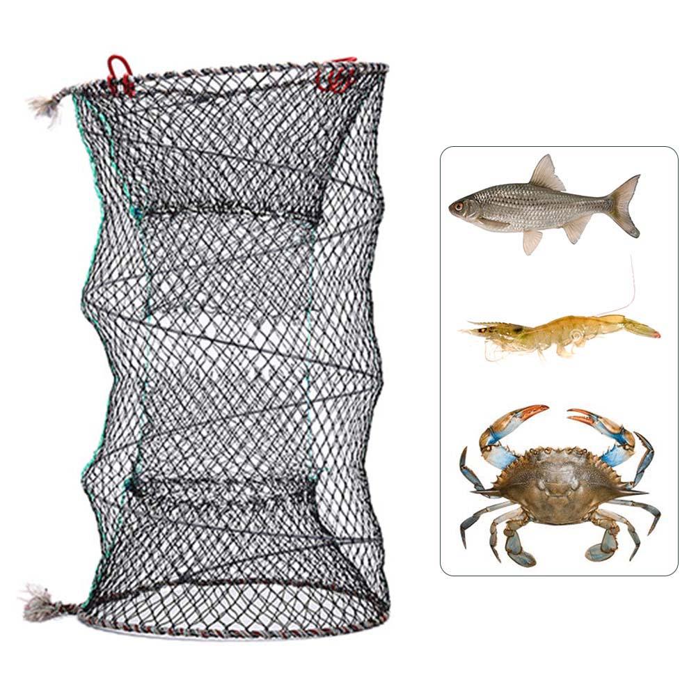 Folding Net Trap Net for Fish Crab Prawn Shrimp Crayfish Lobster Eel Fishing Tool