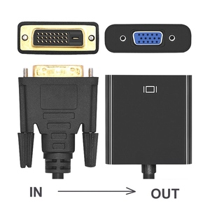 Image 3 - DVI do konwerter VGA, 1080P DVI D, aby kabel VGA, 24 + 1 25 Pin DVI męski na 15 Pin VGA adapter żeński