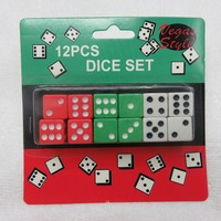 High Quality 12Pcs 14mm Mixed Color Six Sided Bar Pub Club Party Spot Playing Games Dice