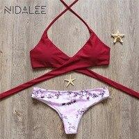 Hot Swimwear Bandage Bikini 2017 Sexy Beach Swimwear Women Swimsuit Bathing Suit Brazilian Bikini Set Maillot