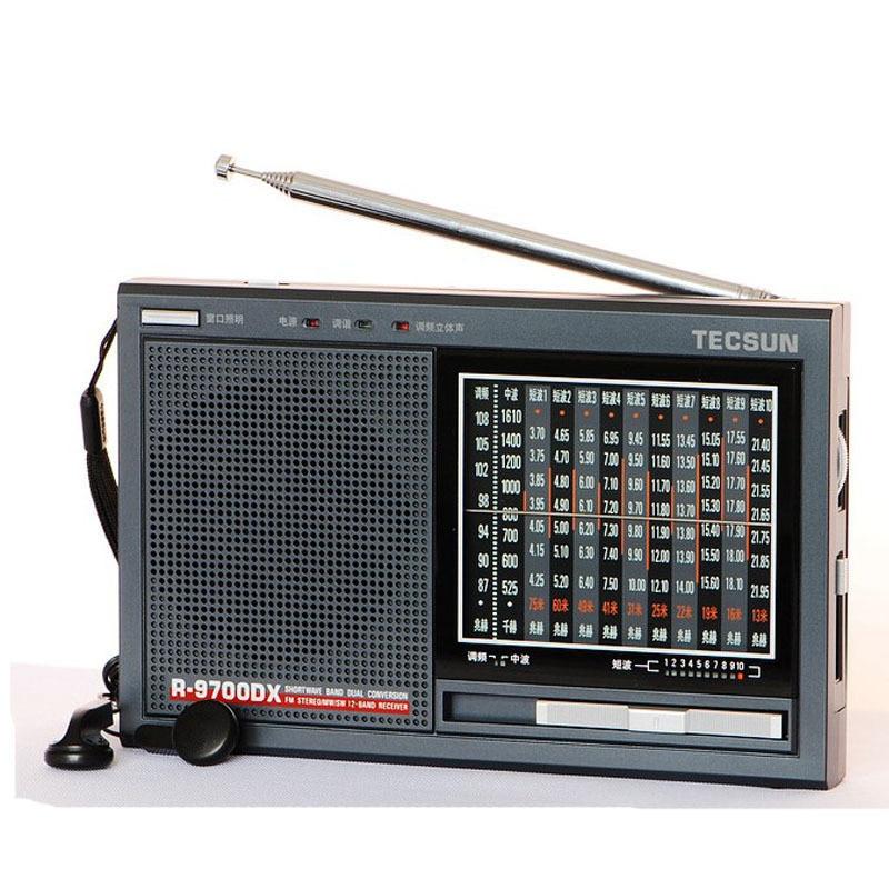 TECSUN R 9700DX Original Guarantee SW MW High Sensitivity World Band Radio Receiver With Speaker Free
