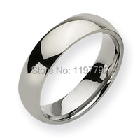 Classic Comfort Fit 6mm Custom USA Size 4 5 To 15 Mens Fashion Jewelry Titanium Rings