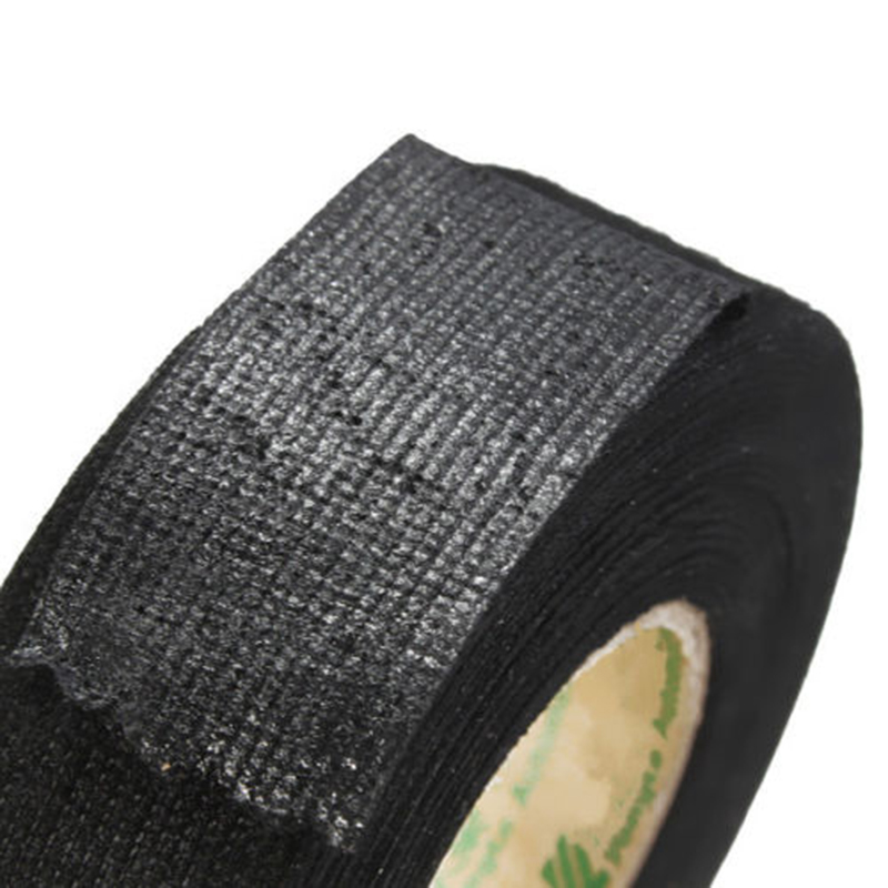 15m New Black Flannel Car Auto Wiring Harness Anti Rattle Self Adhesive Felt Tape aliexpress com buy 15m new black flannel car auto wiring harness black non-adhesive vinyl wiring harness tape at bayanpartner.co