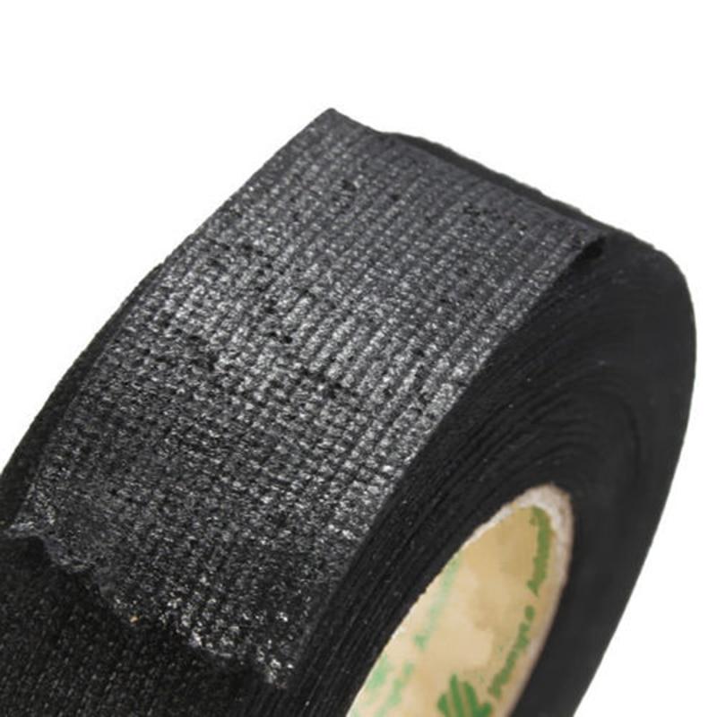 15m New Black Flannel Car Auto Wiring Harness Anti Rattle Self Adhesive Felt Tape aliexpress com buy 15m new black flannel car auto wiring harness non-adhesive vinyl wiring harness tape at soozxer.org