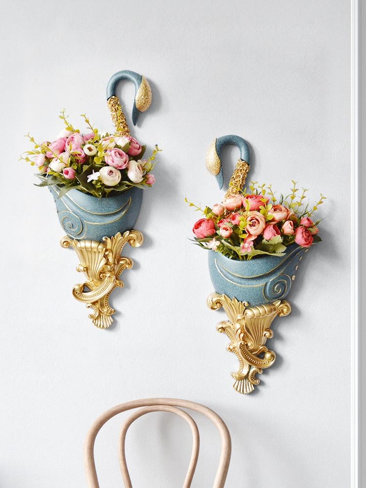 Лебедь настенная подвесная ваза фон украшение стены подвеска настенная ваза