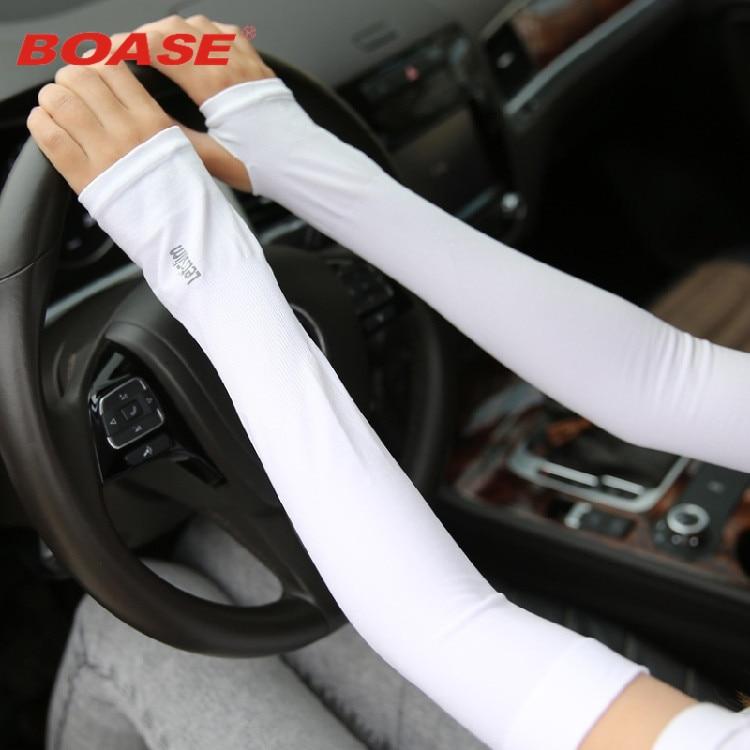 South Korea summer ice silk sun sleeve cuff sleeves men and women outdoor UV travel driving gloves arm long