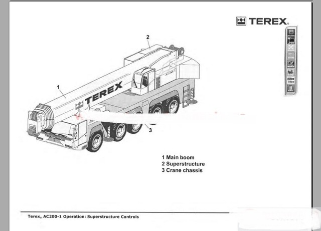 crane parts diagram ao smith wiring shop manual operation and maintenance for terex