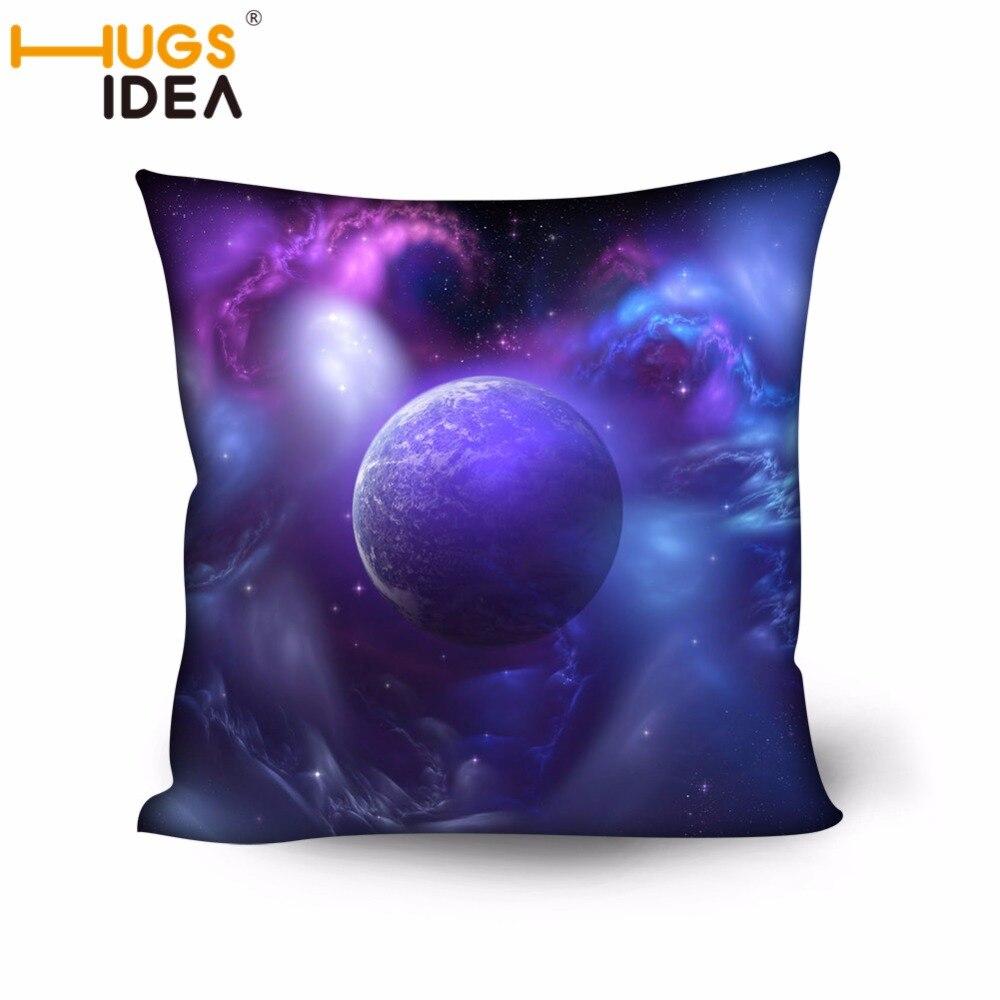 HUGSIDEA belle terre lune Designer dossier coussin pour canapé coussins pour lit Polyester pongé oreiller dos décor à la maison
