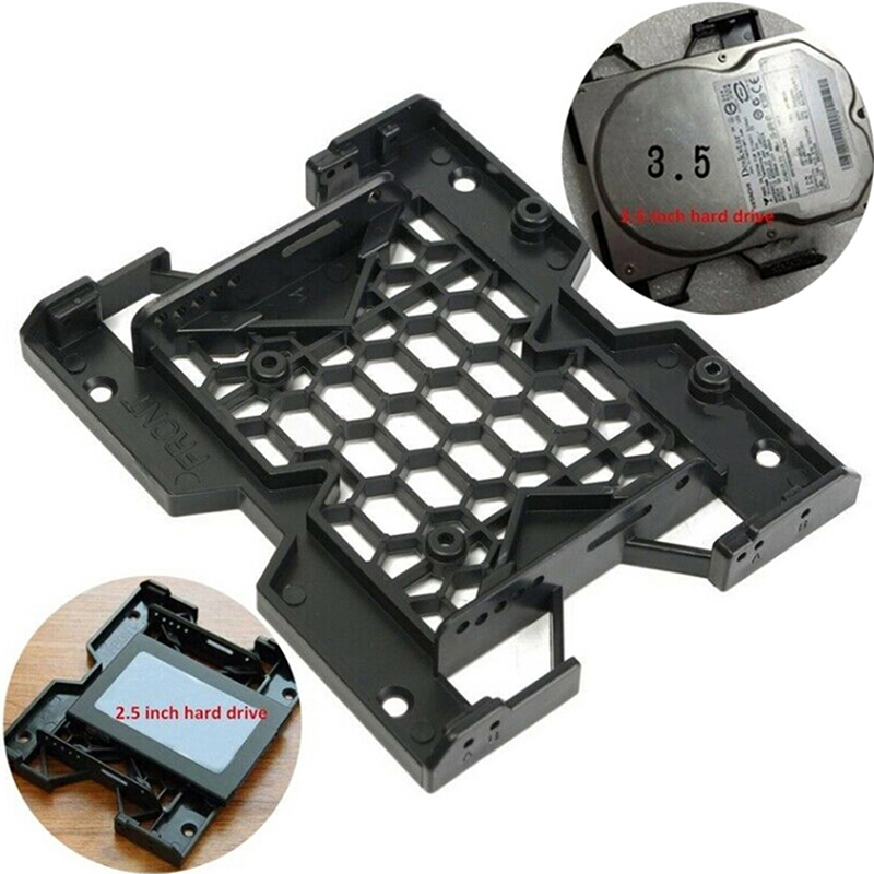 """5.25/"""" to 3.5/""""// 2.5/"""" SSD HDD Tray Caddy Case Adapter Cooling Fan Mounting Bracket"""