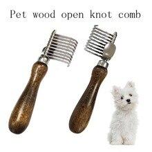 Уход за собакой прочная Щетка для собак, щетка для собак, щетка для собак, деревянная ручка, расческа для щенков, расческа для удаления меха домашних животных, товары для домашних животных