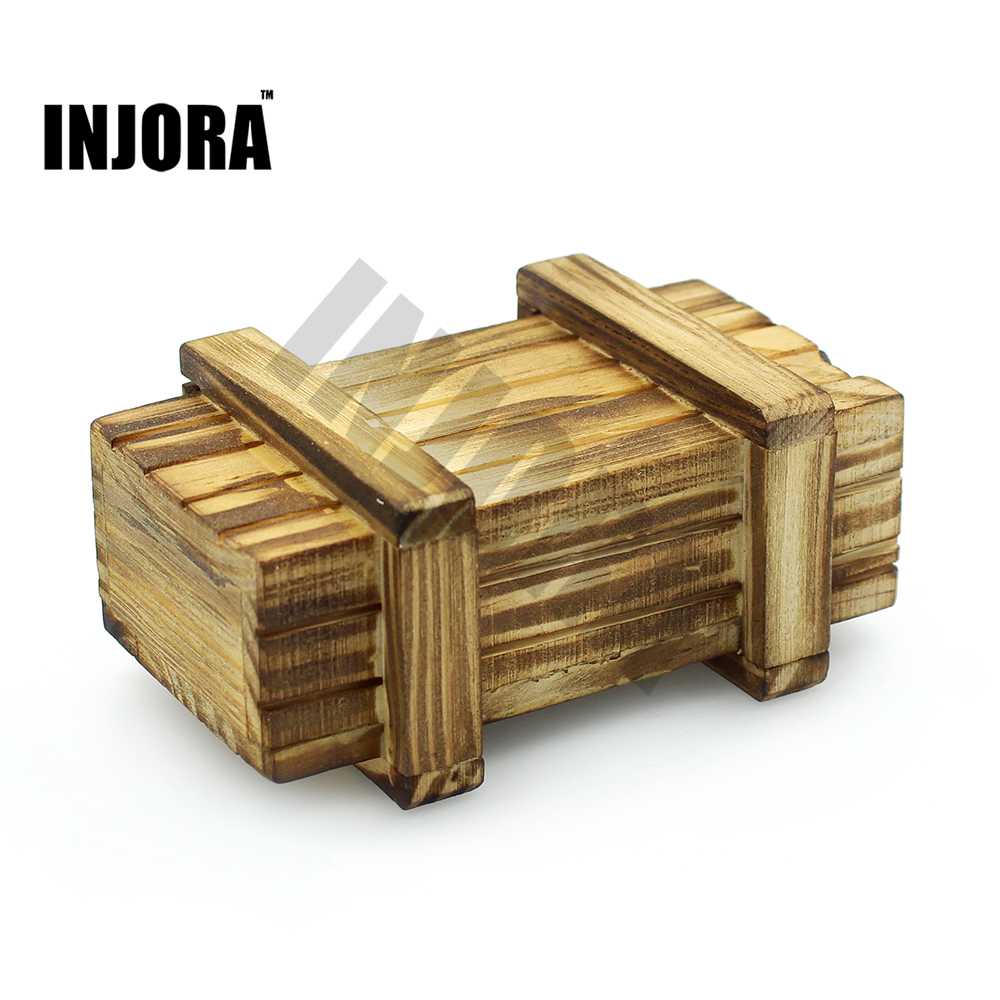 RC Rock Crawler 1:10 Decor Accessories Wooden Box for Axial SCX10 D90 D110 Tamiya CC01 Traxxas TRX-4 RC Car Truck rc 1 10 crawler metal electric winch for 1 10 rc rock crawler traxxas trx 4 axial scx10 rc4wd d90 d110 tamiya cc01