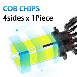 Image 2 - CARLitek 3D Faro Led H1 H4 H7 H11 9005 9006 HB3 HB4 881 H8 H9 880 881 samochodów Led reflektor żarówka mgła lampa 12000LM 6000 K 4 boczne diody