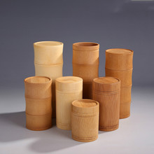 Carbonized bambus tee glas Kaffee Box versiegelt kanister bambus tasse lagertank mit tee box pure natural handgemachte glas