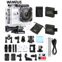 Action Camera 2.0″LCD Waterproof WiFi 1080p Full HD 12MP 170 wide-angle Sports Camcorder+Waterproof Case 2 Batteries+Accessories