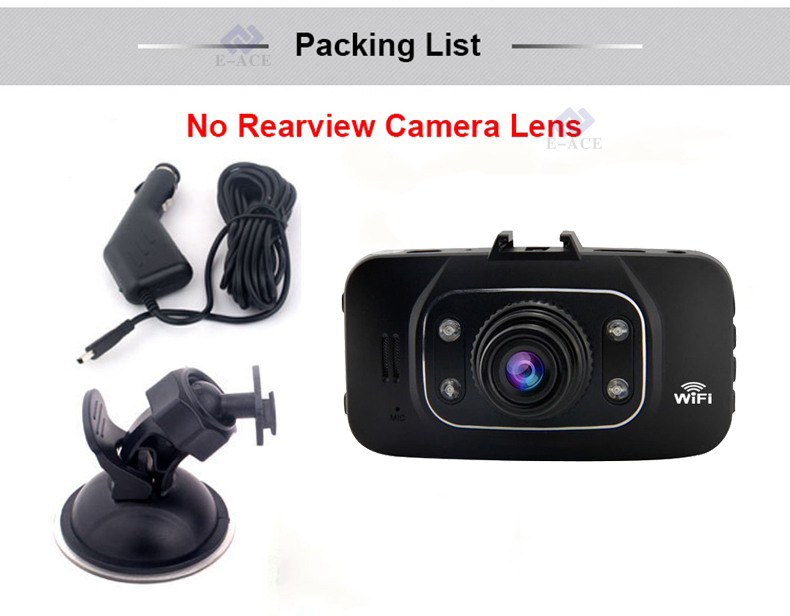 E-ACE Hidden Wifi Mini Car Dvr Full HD 1080P Video Recorder Night Vision Dvrs Auto Dash Cam Dual Camera Lens Automotive Car Cams 34